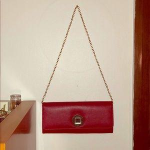 Red Aldo Clutch/Shoulder Bag